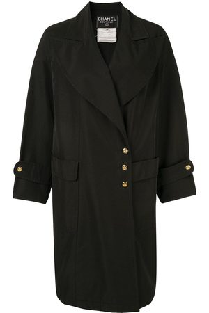 CHANEL 1985-1993 wide-lapel double-breasted coat