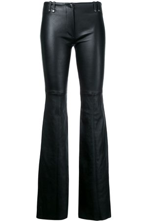 Plein Sud Women Leather Trousers - Flared leather trousers