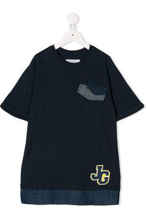 John Galliano Denim trimmed T-shirt