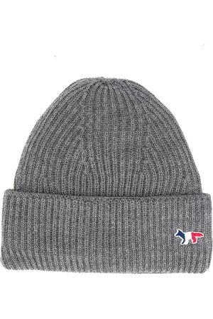 Maison Kitsuné Hats - Fox patch knitted hat