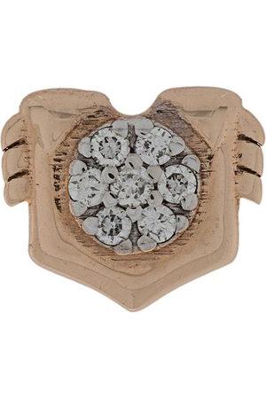 Milka 14kt rose Leo diamond stud earring