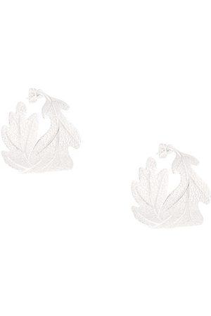 Karen Walker Oak leaf earrings