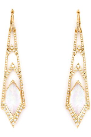 STEPHEN WEBSTER Women Earrings - Crystal Haze long diamond earrings - Metallic