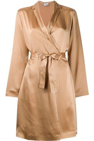 La Perla Silk short robe - Neutrals