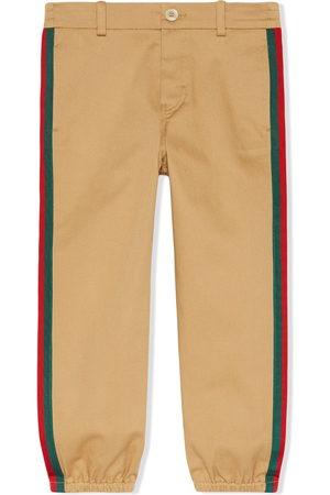 Gucci Web side stripe trousers - Neutrals