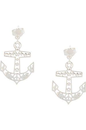 Karen Walker Women Earrings - Filigree anchor studs