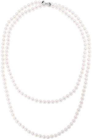 Tasaki 18kt 7.5mm Akoya pearl long necklace 120cm