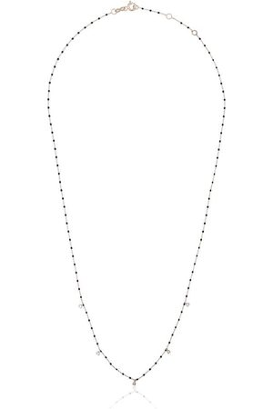 Gigi Clozeau Women Necklaces - 18kt gold diamond-detail beaded necklace