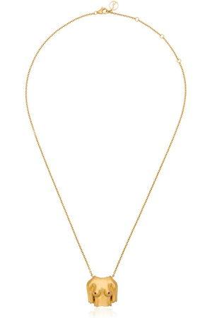 Anissa Kermiche Plated Rubies Boobies doré pendant necklace
