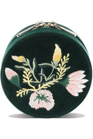 Wolf Floral round jewellery box - FOREST