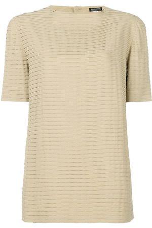 Giorgio Armani Pleated shortsleeved blouse - Neutrals