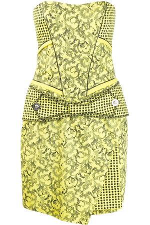 VERSACE Barocco print strapless dress