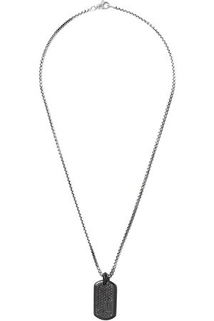 David Yurman Men Necklaces - Pavé diamond titanium tag - TBABD