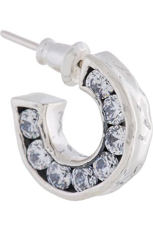 E.M. Small crystal hoop earring - Metallic