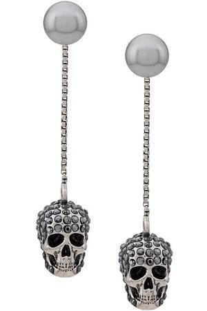 Alexander McQueen Women Earrings - Skull embellished drop earrings