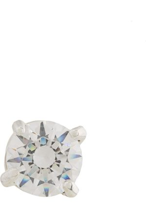 E.M. Dropped crystal earring - Metallic