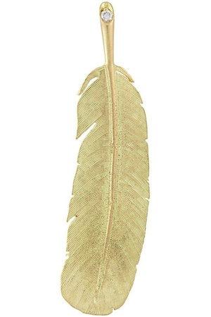 WOUTERS & HENDRIX 18kt gold Feather diamond earring - Metallic