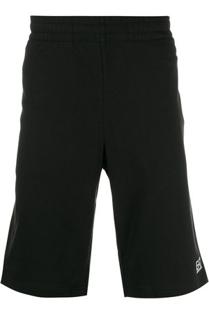 EA7 Men Sports Shorts - Logo print track shorts