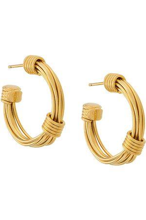 Gas Bijoux Women Earrings - Ariane hoop earrings - Metallic