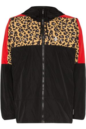 MARCELO BURLON Men Jackets - Leopard Block windbreaker