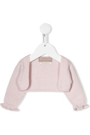 LA STUPENDERIA Cardigans - Ruffled cashmere cardigan