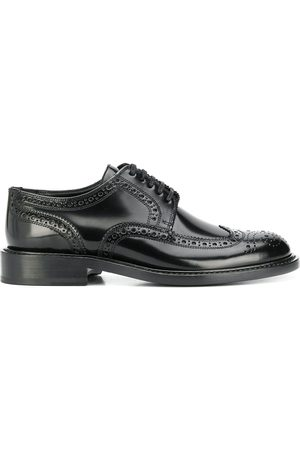 Saint Laurent Women Brogues - Army perforated derby shoes
