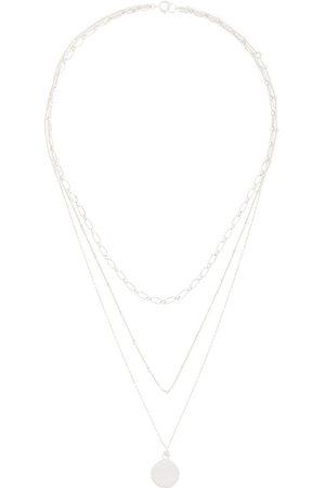 Petite Grand Women Necklaces - Three Layered Miro necklace - Metallic