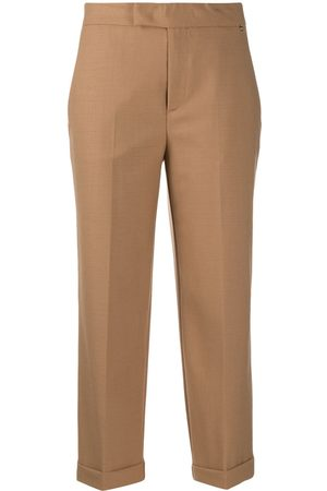 TWINSET Women Trousers - Cropped tailored trousers - Neutrals