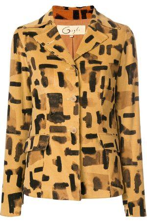 ROMEO GIGLI Brush stroke print jacket - Neutrals