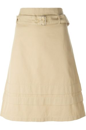 ROMEO GIGLI Belted A-line skirt - Neutrals