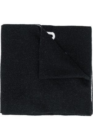 Moschino Men Scarves - Intarsia-logo scarf