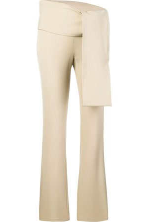 ROMEO GIGLI Knot detail slim-fit trousers - Neutrals