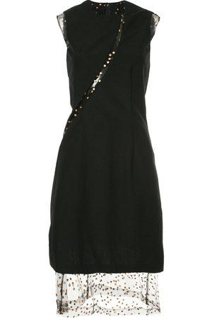 Comme des Garçons Sheer panel A-line dress