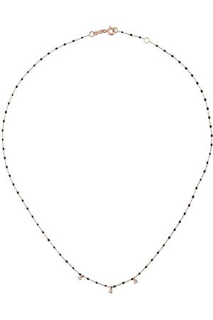 GIGI CLOZEAU 18kt rose gold mini Gigi diamond and beaded necklace