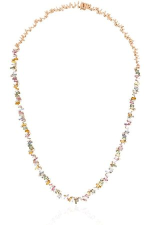 Suzanne Kalan Women Necklaces - 18kt rose Fireworks sapphire and diamond necklace