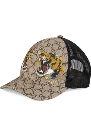 Gucci Men Hats - Tigers print GG Supreme baseball hat - NEUTRALS