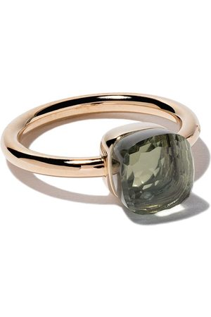 Pomellato 18kt rose & white small Nudo prasiolite ring
