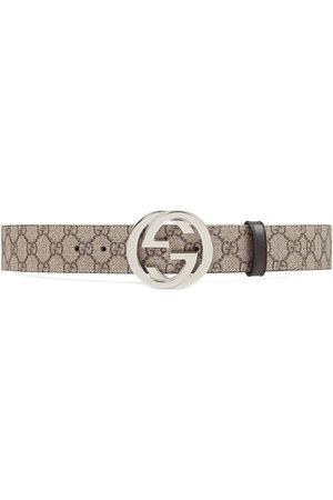 Gucci GG Supreme belt with G buckle - Neutrals