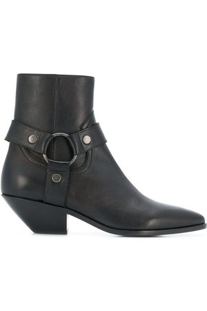 Saint Laurent Strapped pointed ankle boots