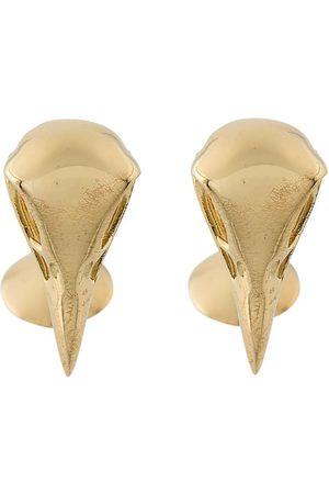 SHAUN LEANE Eagle Skull cufflinks - Metallic