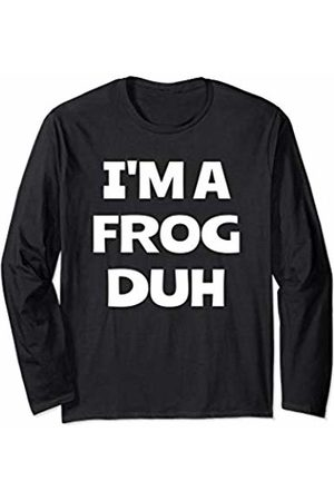 No Effort Halloween Costumes I'm a Frog Funny Easy Halloween Costume Party Men Women Long Sleeve T-Shirt