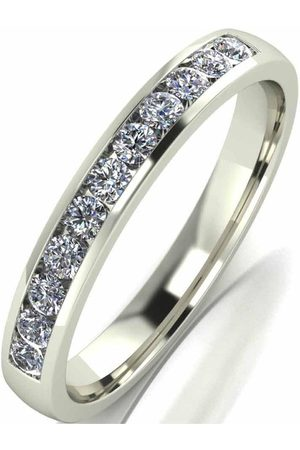 Moissanite 33 Point 9 Carat Channel Set Eternity Ring