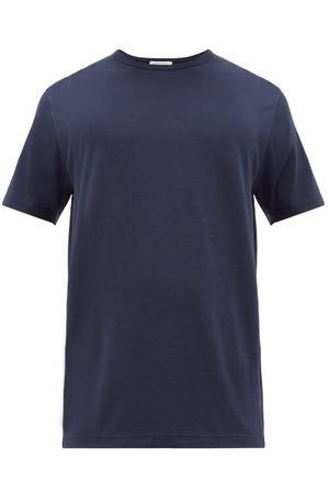 Sunspel Pima-cotton Jersey T-shirt - Mens - Navy
