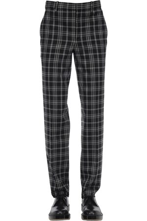 Neil Barrett Stretch Virgin Wool Blend Canvas Pants