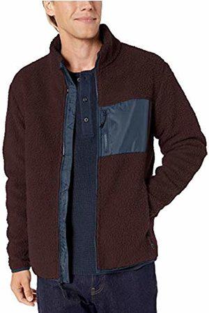 Goodthreads Sherpa Fleece Fullzip Jacket Burgundy