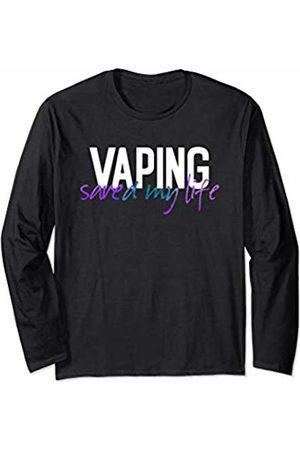 Eat Sleep Vape Repeat Vaping Gifts ADC Vaping Saved Me Adults Like Flavors Vape Ban Purple Teal Long Sleeve T-Shirt