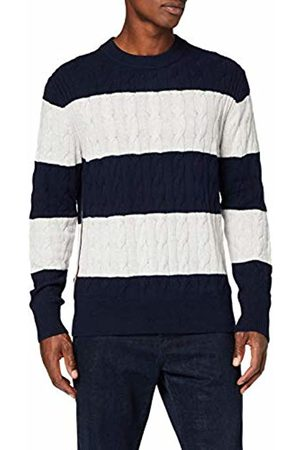 Tommy Hilfiger Men's Block Striped Cable Sweater Sweatshirt