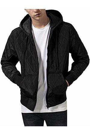 Urban classics Men's Hooded Big Diamond Quilt Jacket