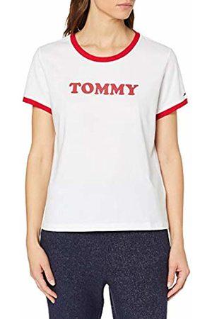 Tommy Hilfiger Women's Ss Tee Slogan Pyjama Top, ( 100)