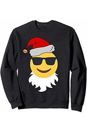 Emoji Christmas Tees Co. Santa Claus Xmas Cool Sunglasses Emoji Christmas Boys Girls Sweatshirt